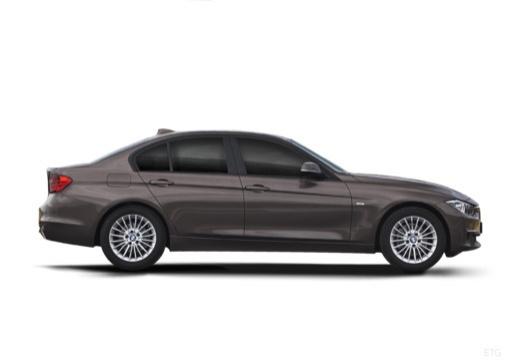 BMW Seria 3 F30 sedan szary ciemny boczny prawy