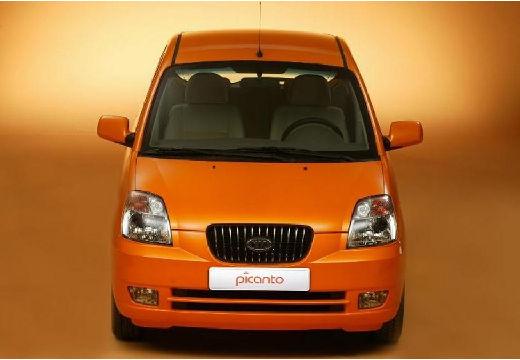 KIA Picanto I hatchback pomarańczowy przedni