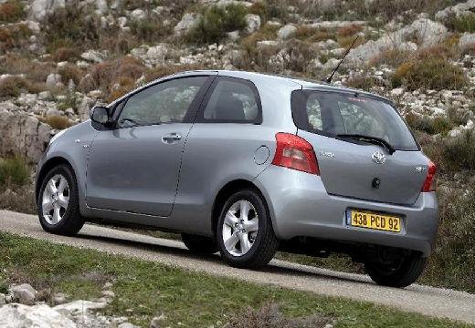 Toyota Yaris hatchback silver grey tylny lewy