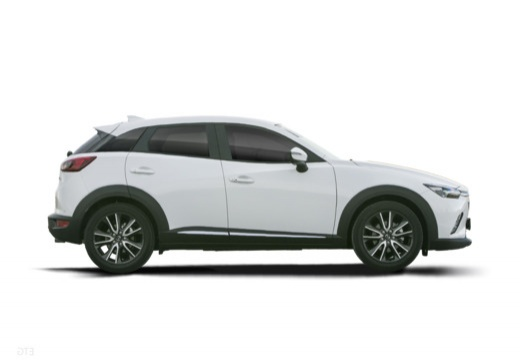 MAZDA CX-3 hatchback biały boczny prawy