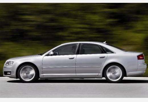 AUDI A8 4E II sedan silver grey boczny lewy