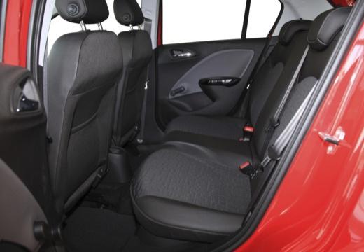 OPEL Corsa E hatchback czerwony jasny wnętrze