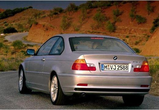 BMW Seria 3 E46 coupe silver grey tylny lewy