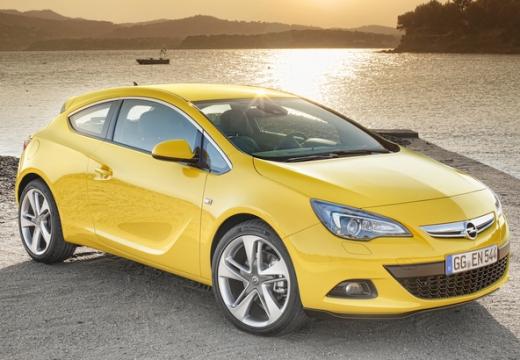 OPEL Astra hatchback żółty przedni prawy