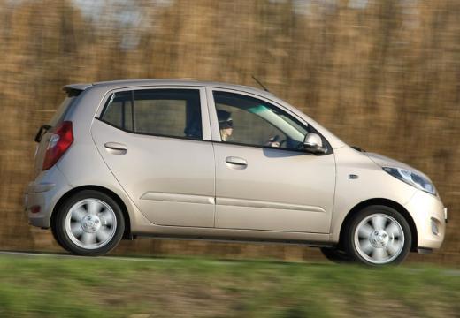 HYUNDAI i10 II hatchback silver grey boczny prawy