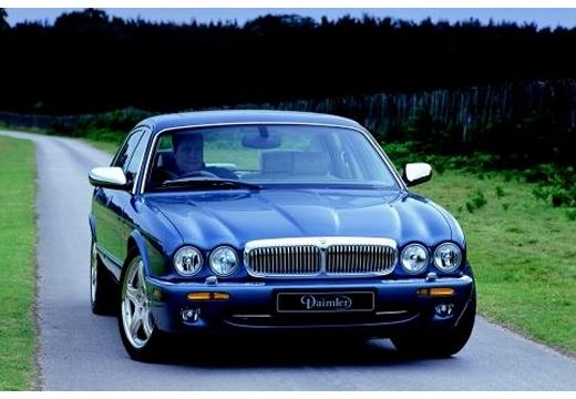 JAGUAR XJ III sedan niebieski jasny przedni