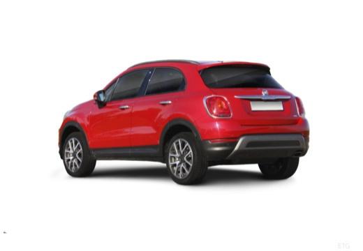 FIAT 500 X City Look hatchback czerwony jasny tylny lewy