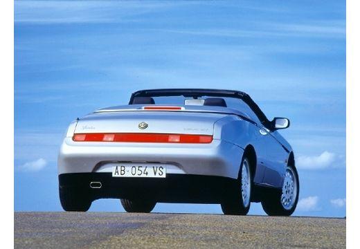 ALFA ROMEO Spider II kabriolet silver grey tylny prawy