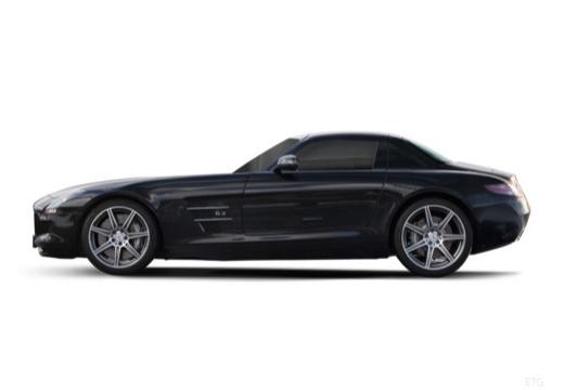MERCEDES-BENZ SLS coupe czarny boczny lewy