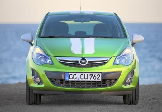 OPEL Corsa hatchback zielony przedni