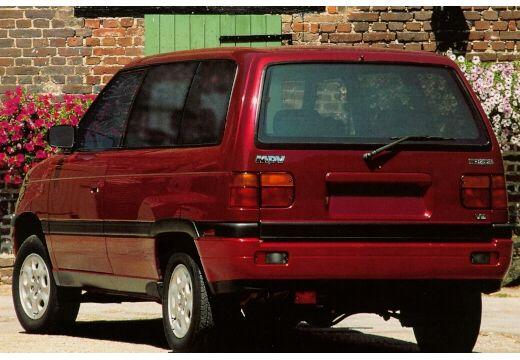 MAZDA MPV I van bordeaux (czerwony ciemny) tylny lewy