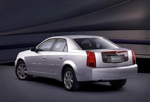 CADILLAC CTS sedan silver grey tylny lewy