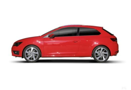 SEAT Leon IV hatchback czerwony jasny boczny lewy