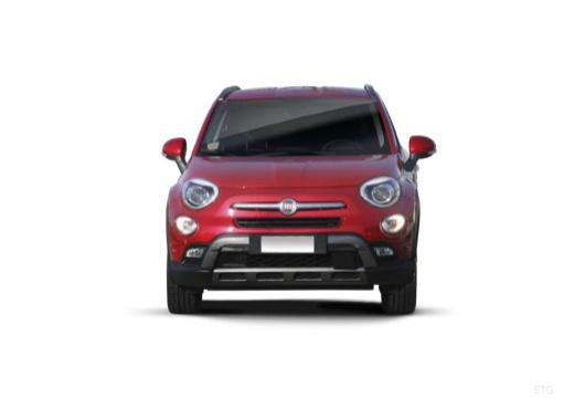 FIAT 500 X City Look hatchback czerwony jasny przedni