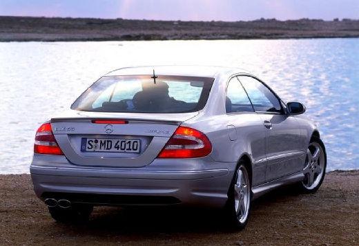 MERCEDES-BENZ Klasa CLK coupe silver grey tylny prawy
