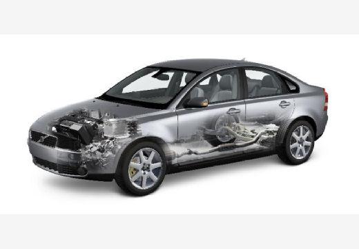 VOLVO S40 IV sedan silver grey prześwietlenie