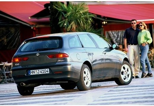 ALFA ROMEO 156 Sportwagon I kombi szary ciemny tylny prawy