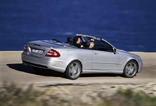 MERCEDES-BENZ Klasa CLK kabriolet silver grey tylny prawy