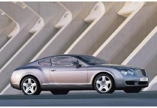 BENTLEY Continental coupe silver grey przedni prawy