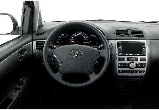 Toyota Avensis Verso II van silver grey tablica rozdzielcza