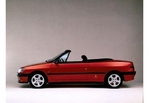 PEUGEOT 306 kabriolet bordeaux (czerwony ciemny) boczny lewy