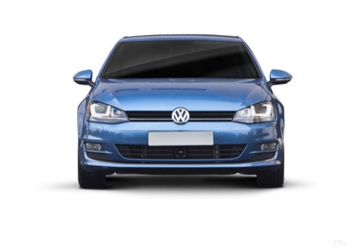 VOLKSWAGEN Golf VII I hatchback niebieski jasny przedni