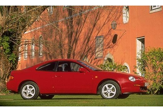 Toyota Celica coupe czerwony jasny boczny prawy