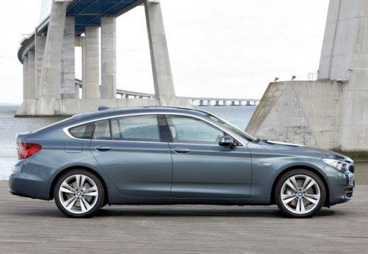 BMW Seria 5 Gran Turismo F07 I hatchback niebieski jasny boczny prawy