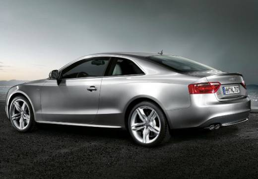 AUDI A5 I coupe silver grey tylny lewy