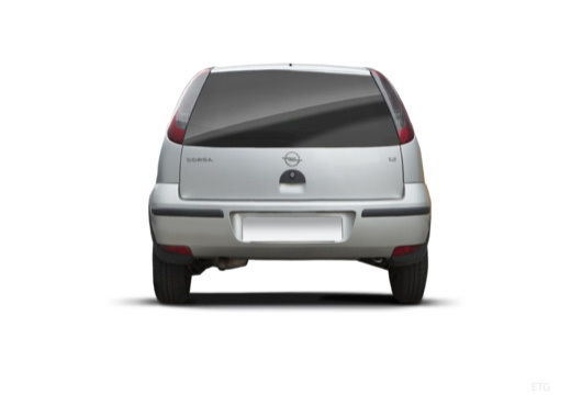 OPEL Corsa C II hatchback silver grey tylny