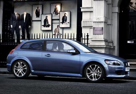 VOLVO C30 I hatchback niebieski jasny przedni prawy