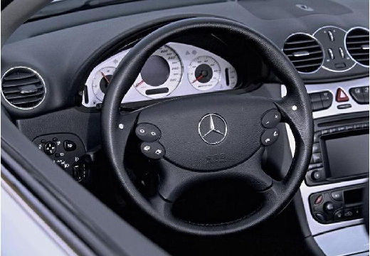 MERCEDES-BENZ Klasa CLK kabriolet silver grey tablica rozdzielcza