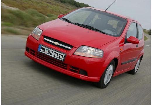 CHEVROLET Aveo I hatchback czerwony jasny przedni lewy
