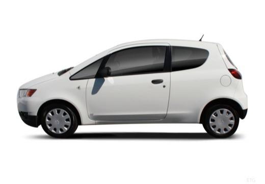 MITSUBISHI Colt VI hatchback biały boczny lewy