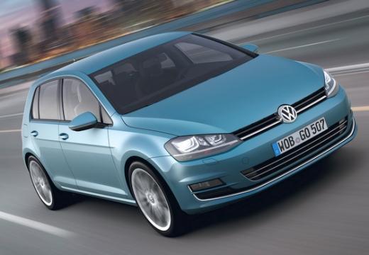 VOLKSWAGEN Golf VII I hatchback niebieski jasny przedni prawy