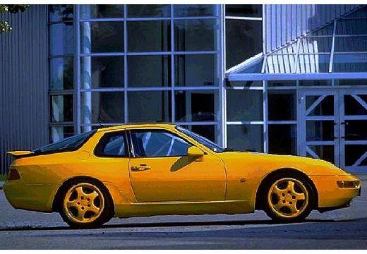 PORSCHE 968 coupe żółty boczny prawy