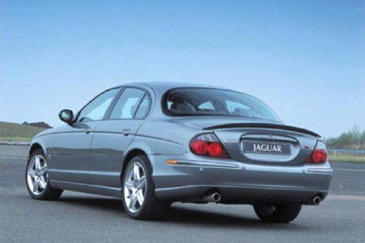 JAGUAR S-Type II sedan silver grey tylny lewy
