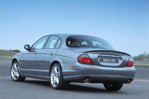 JAGUAR S-Type II sedan silver grey tylny lewy