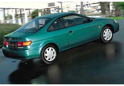 Toyota Paseo coupe zielony tylny prawy