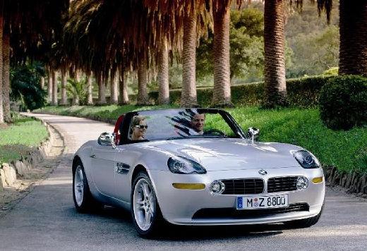 BMW Z8 roadster silver grey передний правый