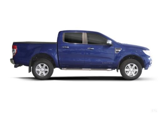 FORD Ranger pickup niebieski jasny boczny prawy