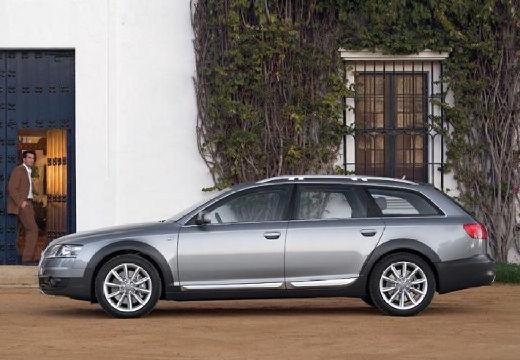AUDI A6 Allroad kombi silver grey boczny lewy
