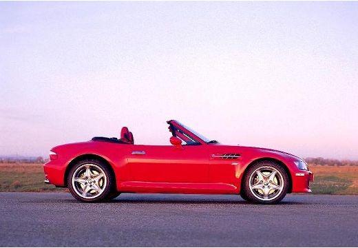 BMW Z3 roadster czerwony jasny boczny prawy