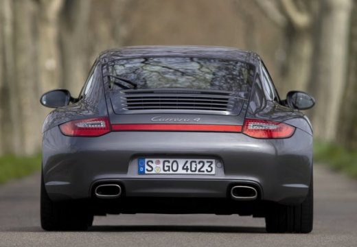 PORSCHE 911 997 coupe szary ciemny tylny