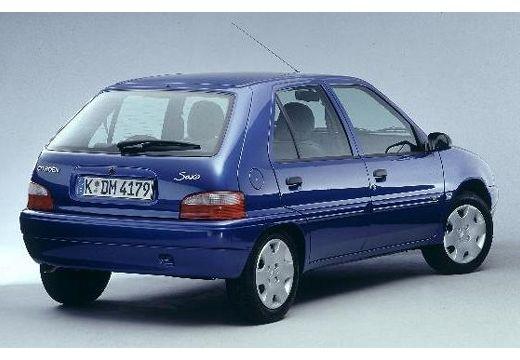 CITROEN Saxo hatchback niebieski jasny tylny prawy