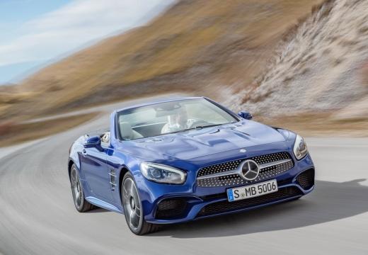 MERCEDES-BENZ Klasa SL roadster niebieski jasny przedni prawy