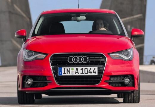 AUDI A1 hatchback czerwony jasny przedni