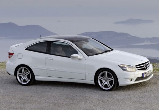 MERCEDES-BENZ Klasa CLC coupe biały przedni prawy