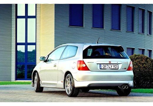HONDA Civic IV hatchback silver grey tylny lewy