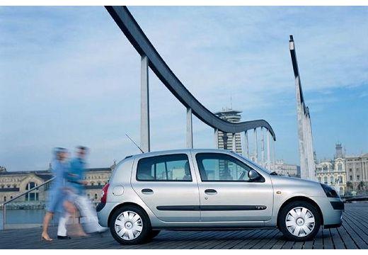 RENAULT Clio II II hatchback niebieski jasny boczny prawy